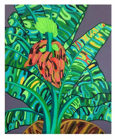 contemporary Acrylic Art Painting title 'NATURE-6' by artist Manish Dey