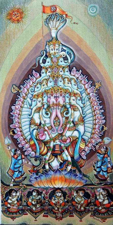 Lord Ganesha 3 | Painting by artist Anand Sonar | mixed-media | Handmade Paper