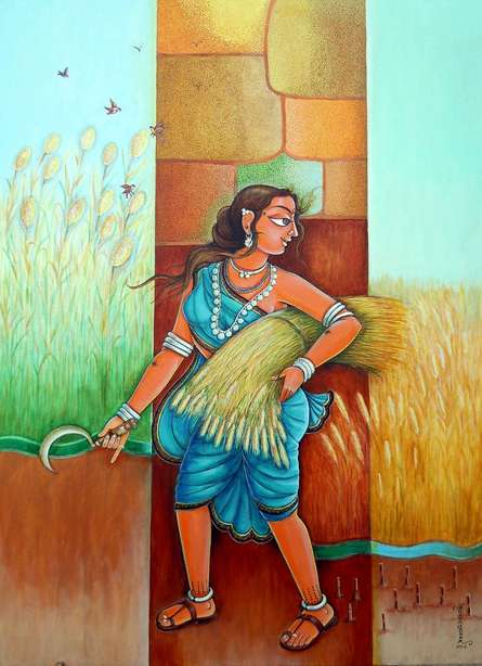 Figurative Acrylic Art Painting title Season 4 by artist Anand Sonar