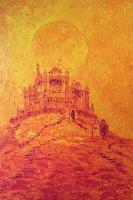 Fire In The Sky | Painting by artist Jaya Javeri | oil | Canvas