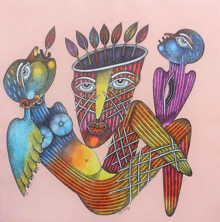 Figurative Oil Art Painting title Untitled 3 by artist Navneet Rathod
