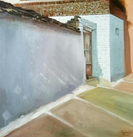 Landscape Acrylic Art Painting title 'Untitled 2' by artist Rajashree Sutar