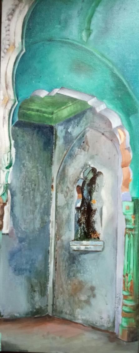 Rajashree Sutar Paintings | Acrylic Painting - Untitled 6 by artist Rajashree Sutar | ArtZolo.com