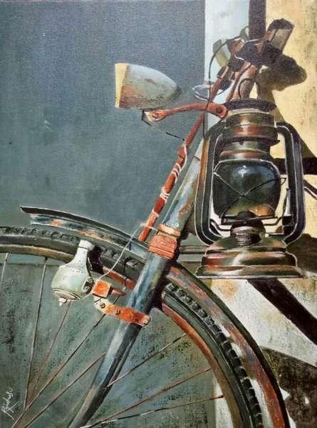 Still-life Acrylic Art Painting title 'Untitled 9' by artist Rajashree Sutar