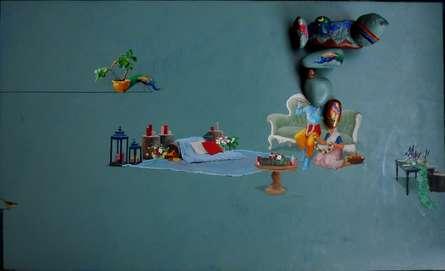 Fantasy Mixed-media Art Painting title Untitled 1 by artist Pragnesh Patel