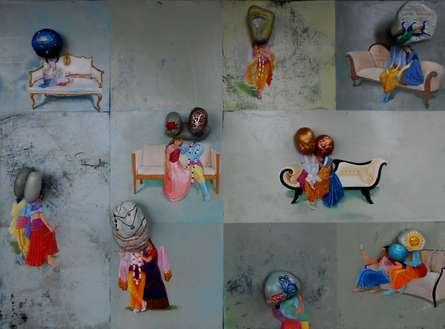 Fantasy Mixed-media Art Painting title Untitled 7 by artist Pragnesh Patel