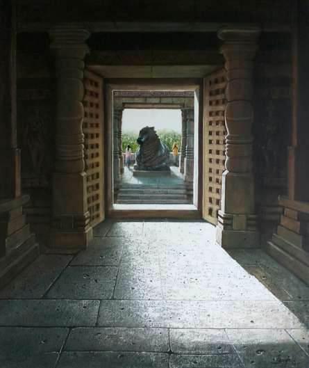 Hoysaleswara Temple | Painting by artist Pravin Pasare | oil | Canvas