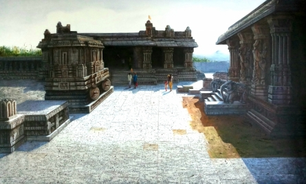 Vitthala Temple Hampi 2 | Painting by artist Pravin Pasare | oil | Canvas