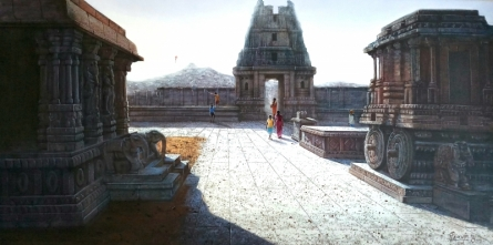 Pravin Pasare | Oil Painting title Vitthala Temple Hampi 3 on Canvas