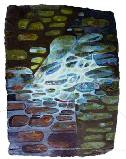 Creative Landscape 4 | Painting by artist Sudhir Pawar | acrylic | Canvas