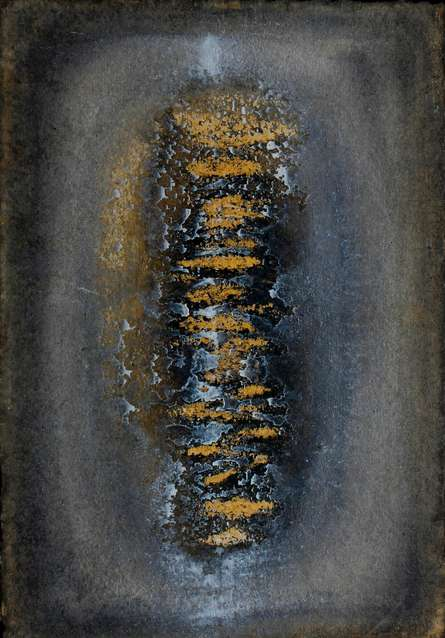 Untitled 13 | Painting by artist Rupesh Pawar | mixed-media | Paper