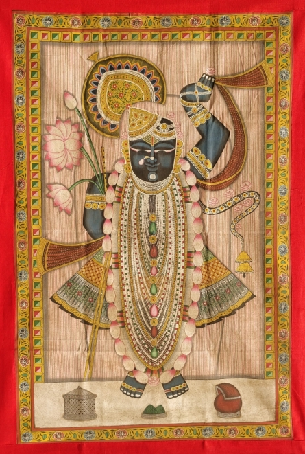 art, traditional, pichwai, cloth, religious, shreenath ji