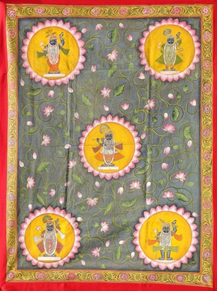 Traditional Indian art title Pichwai 22 on Cloth - Pichwai Paintings