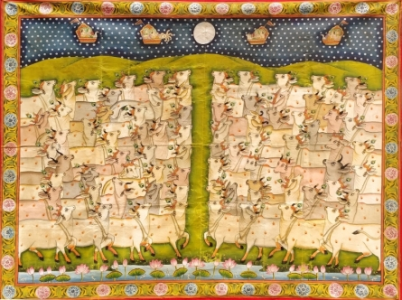 Traditional Indian art title Pichwai 27 on Cloth - Pichwai Paintings