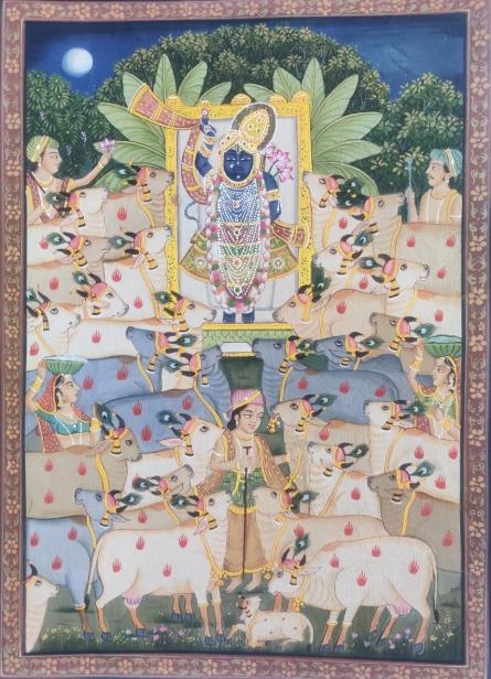 art, tribal art, pichwai, cloth, religious