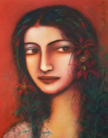 Untitled | Painting by artist Suhas Roy | mixed-media | Canvas