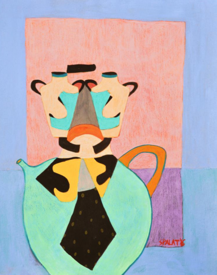 Shantala Palat | Acrylic Painting title Tea For Two on Paper
