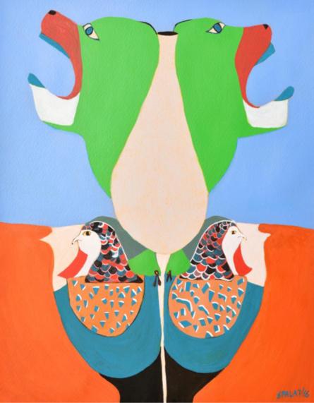 Twitterati! | Painting by artist Shantala Palat | acrylic | Paper