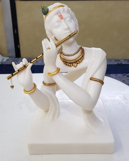 Polystone, Marble Sculpture titled 'Krishna' by artist Bhagwan Rampure