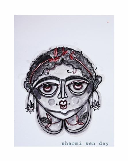 Figurative Mixed-media Art Painting title My frida by artist Sharmi Dey