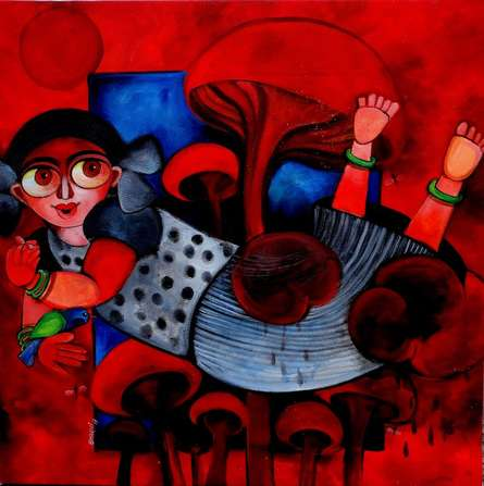 HAZEL | Painting by artist Sharmi Dey | acrylic | Canvas