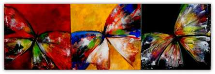 TRIO WINGS | Painting by artist Sharmi Dey | acrylic | Canvas