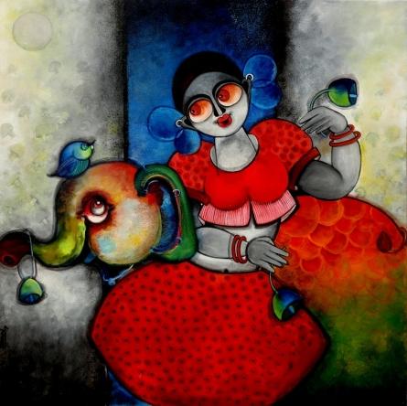 Rajan | Painting by artist Sharmi Dey | acrylic | Canvas