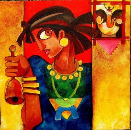 Prayer hand | Painting by artist Sharmi Dey | acrylic | Canvas
