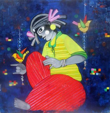 IN MY DREAMS | Painting by artist Sharmi Dey | acrylic | Canvas