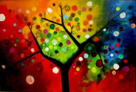BLOSSOM 5 | Painting by artist Sharmi Dey | acrylic | Canvas