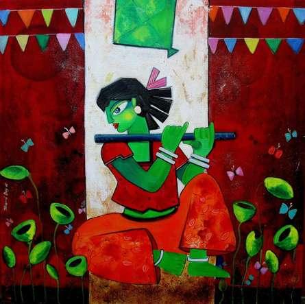 Eywa | Painting by artist Sharmi Dey | acrylic | Canvas