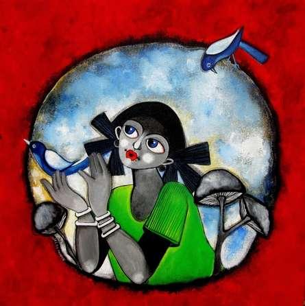 Small wonder | Painting by artist Sharmi Dey | acrylic | Canvas