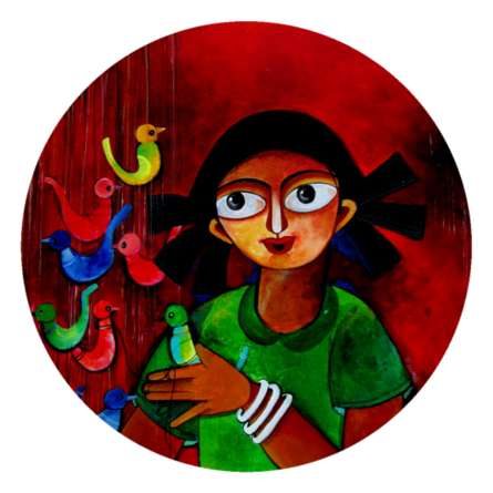 Colors seller | Painting by artist Sharmi Dey | acrylic | Canvas