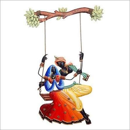 Nitesh   Krishna Radha Jhoola 1 Craft Craft by artist Nitesh   Indian Handicraft   ArtZolo.com