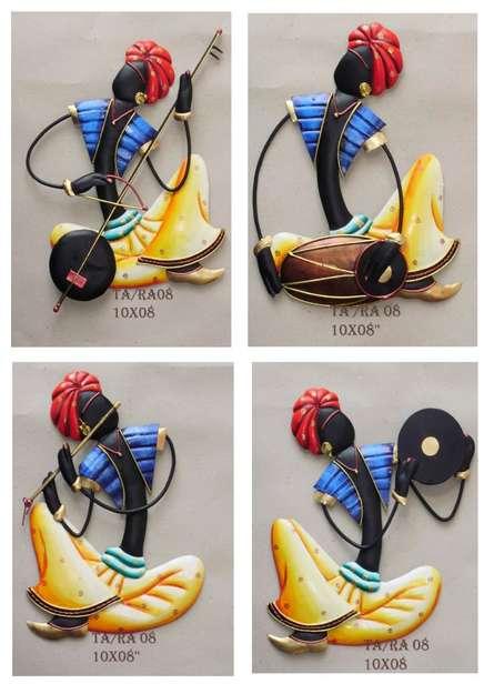Nitesh | Set Of 4 Musician(Blue) Craft Craft by artist Nitesh | Indian Handicraft | ArtZolo.com
