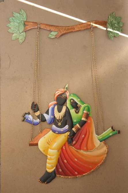 Krishna Radha Jhoola 2 | Craft by artist Handicrafts | Wrought Iron