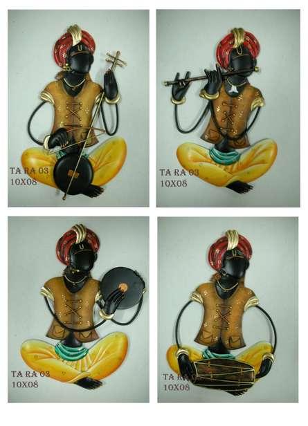 Set Of 4 Musician(Brown) | Craft by artist Handicrafts | Wrought Iron