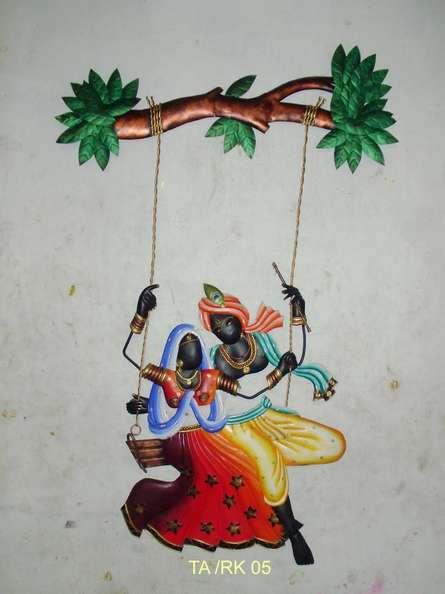 Krishna Radha Jhoola 3 | Craft by artist Handicrafts | Wrought Iron
