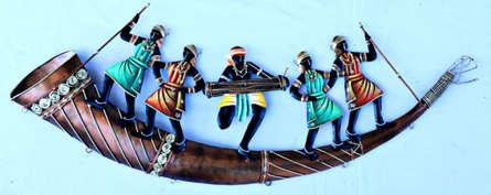 Nitesh H | 5 People Aadivasi Trumpet Craft Craft by artist Nitesh H | Indian Handicraft | ArtZolo.com