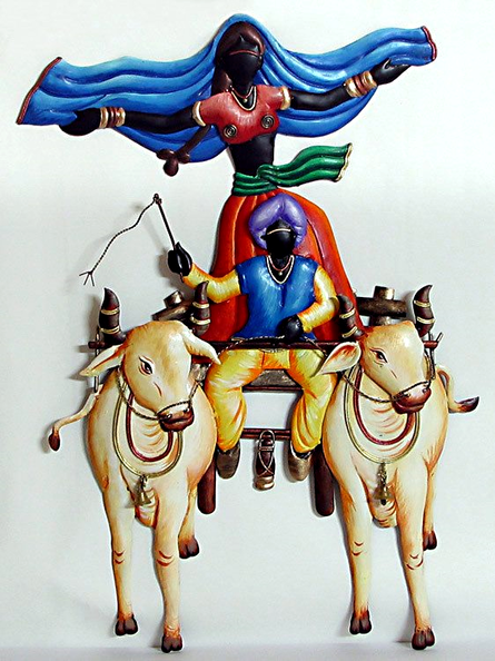 Nitesh | Bullock Cart Craft Craft by artist Nitesh | Indian Handicraft | ArtZolo.com