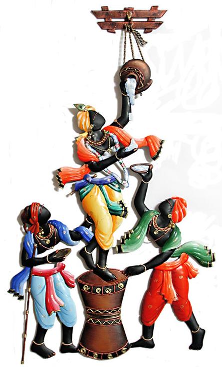 Krishna Makhan Matki | Craft by artist Handicrafts | Wrought Iron