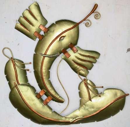 Banana Leaf Ganesha | Craft by artist Handicrafts | Wrought Iron
