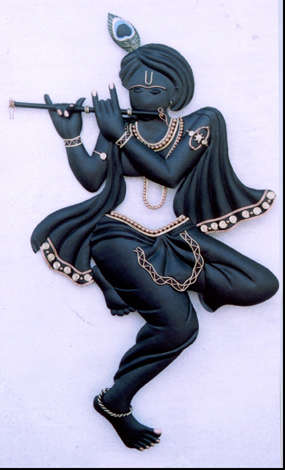 Black Krishna | Craft by artist Handicrafts | Wrought Iron