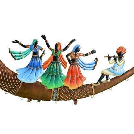 Nitesh | Folk Dance On Trumpet Craft Craft by artist Nitesh | Indian Handicraft | ArtZolo.com