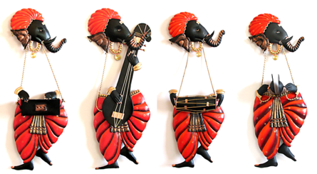 Ganesha Music | Craft by artist Handicrafts | Wrought Iron