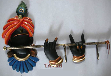Krishna Key Hanger | Craft by artist Handicrafts | Wrought Iron