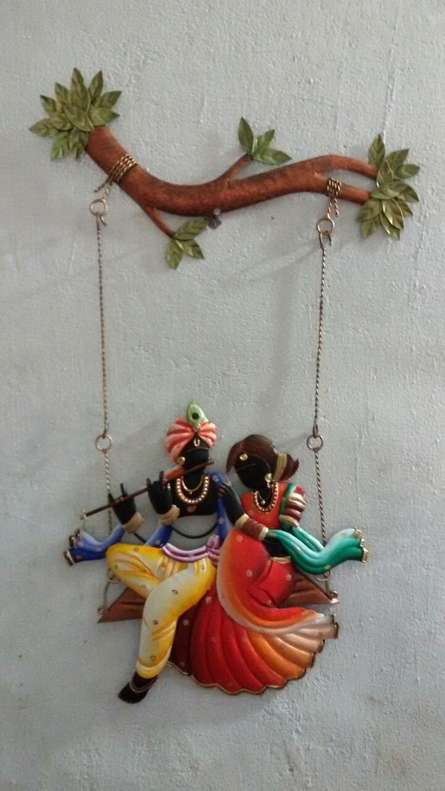 Nitesh | Krishna Radha Jhoola IV Craft Craft by artist Nitesh | Indian Handicraft | ArtZolo.com