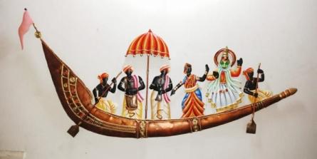 Nitesh H | Onam Pongal Ship Trumpet Craft Craft by artist Nitesh H | Indian Handicraft | ArtZolo.com