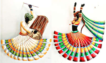 Nitesh H | Rajasthani Couple Craft Craft by artist Nitesh H | Indian Handicraft | ArtZolo.com
