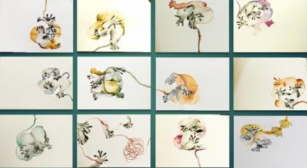 contemporary Mixed-media Art Painting title Connection by artist Rasana Bhardwaj